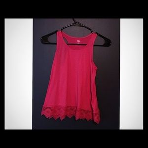Old Navy... Girl's sleeveless tunic with lace
